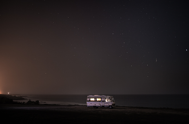 A van in the sea 14 : In 2011 I decided to buy an old(but super well constructed) motorhome Hymer 1983 and move it along the south coast of Portugal in some of my favorite places along the european coast. I did that just to be able to take care of my personal photography project and also… because I just wanted to do what I like. Here is a small series of images taken in 2013 before to go to sleep.