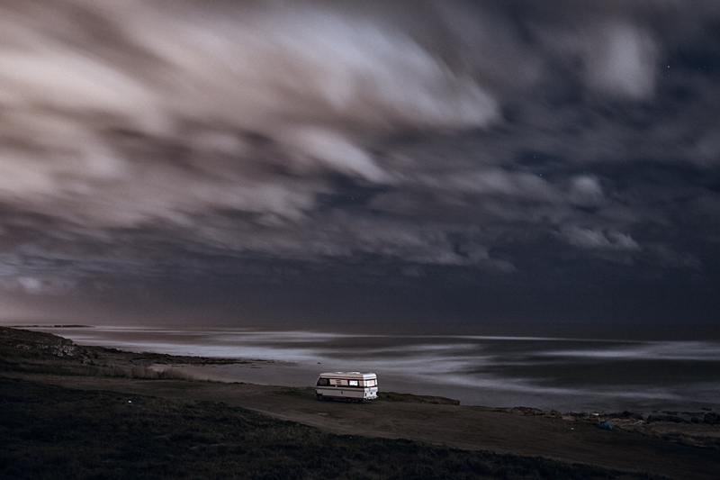 A van in the sea 18 : In 2011 I decided to buy an old(but super well constructed) motorhome Hymer 1983 and move it along the south coast of Portugal in some of my favorite places along the european coast. I did that just to be able to take care of my personal photography project and also… because I just wanted to do what I like. Here is a small series of images taken in 2013 before to go to sleep.