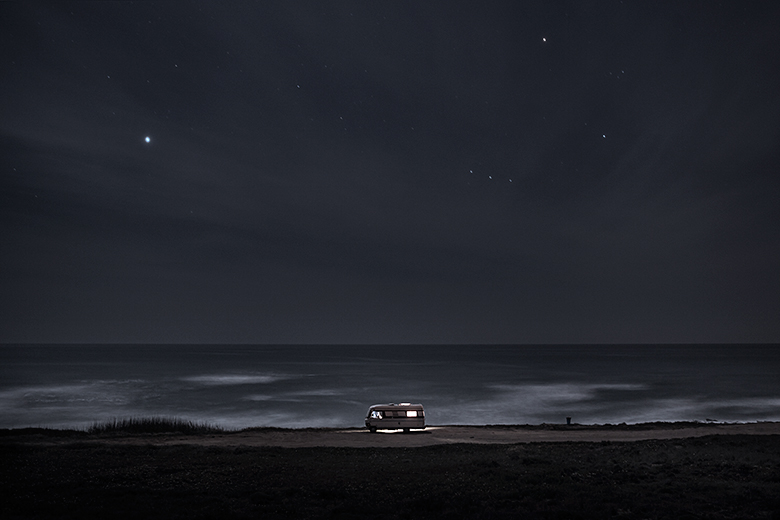A van in the sea 21 : In 2011 I decided to buy an old(but super well constructed) motorhome Hymer 1983 and move it along the south coast of Portugal in some of my favorite places along the european coast. I did that just to be able to take care of my personal photography project and also… because I just wanted to do what I like. Here is a small series of images taken in 2013 before to go to sleep.