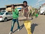 Addis in Motion: Street Photography from Ethiopia : A hawker in Merkato. Addis Ababa.
