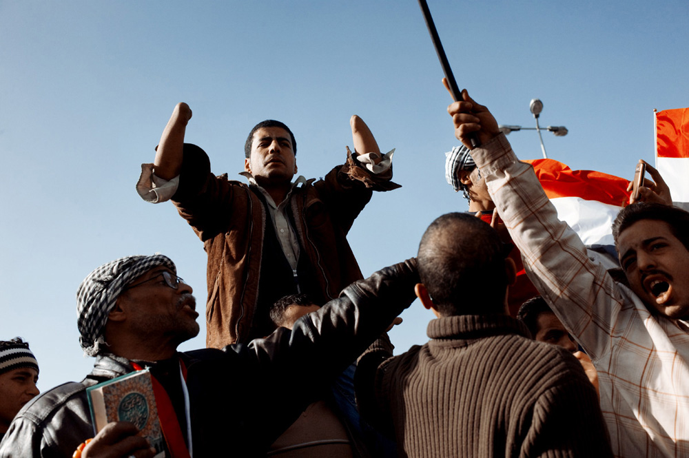 The Longest Arab Spring : Protesting in Tahrir square. Cairo, Egypt