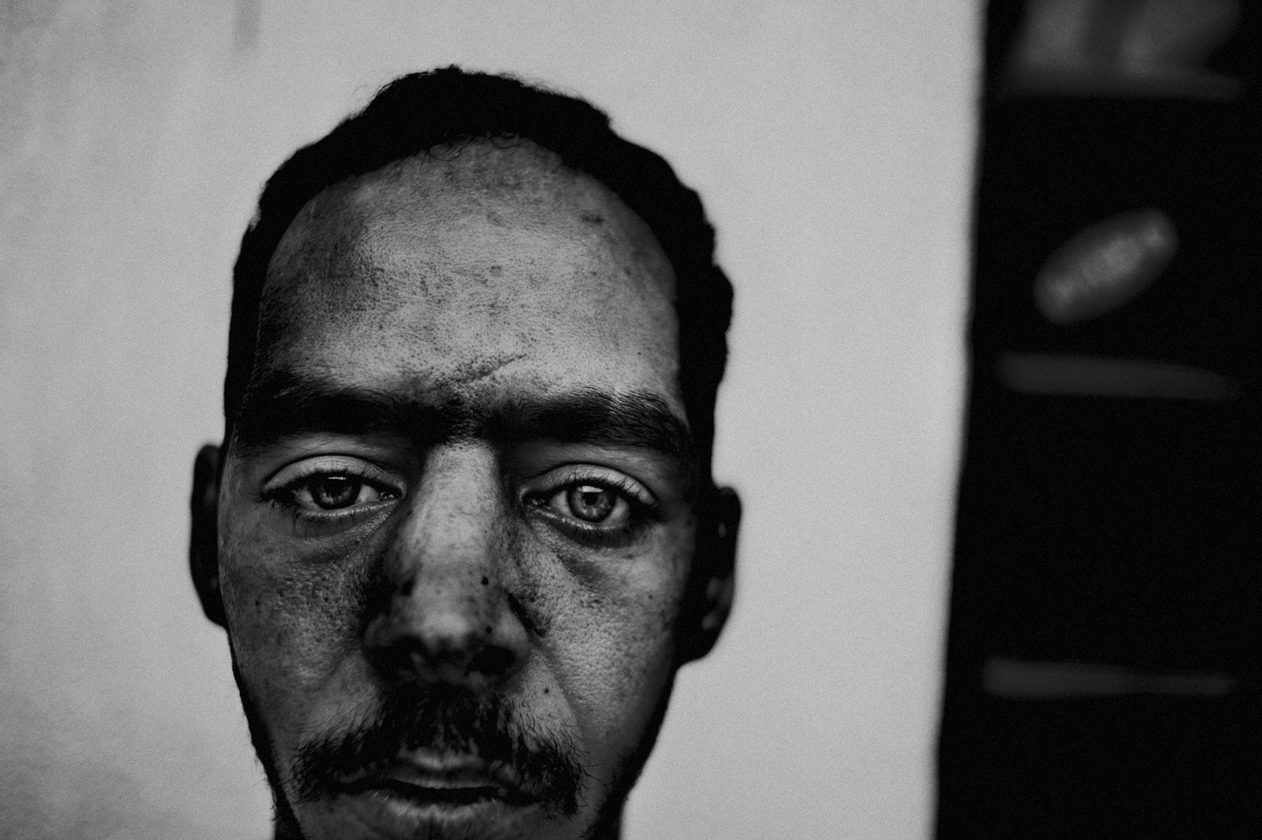libya at the crossroads 2 : A veteran soldier who never recovered from the trauma of the war. He was captured and tortured by the loyalists