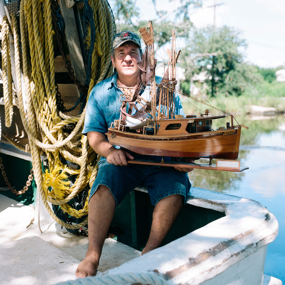 Charles Robins IV, 7th Generation Commercial Shrimper. Yscloskey, Louisiana 2012 :
