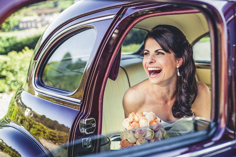 Happyness : Bride smiling.